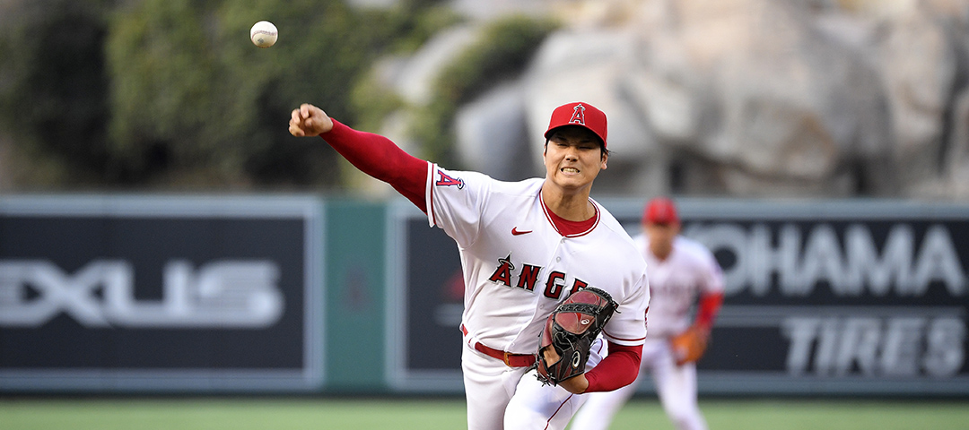 Los Angeles Angels starting pitcher Shohei Ohtani
