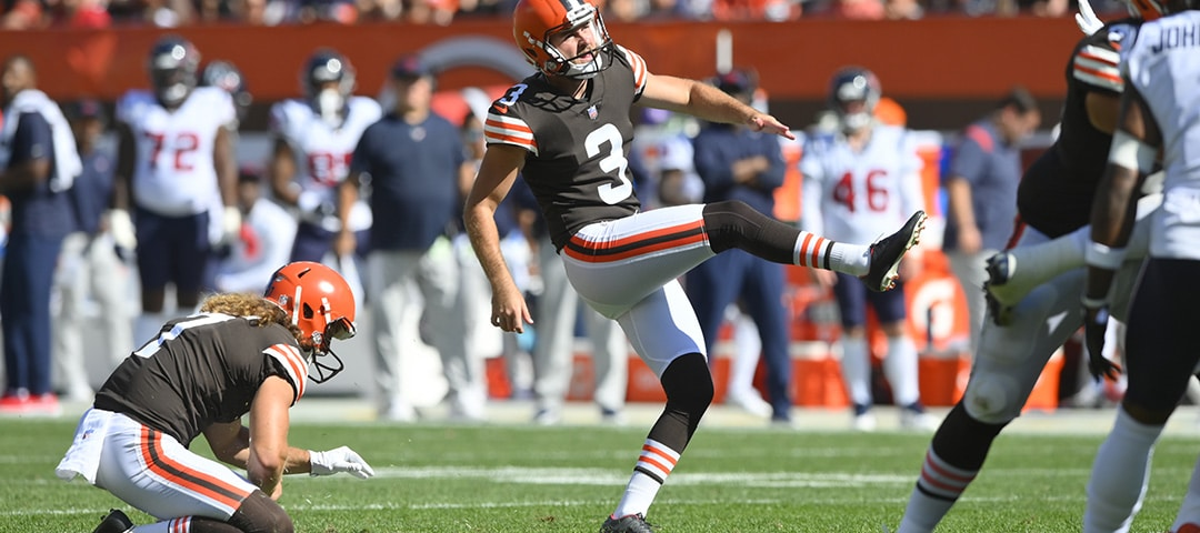 Cleveland Browns kicker Chase McLaughlin